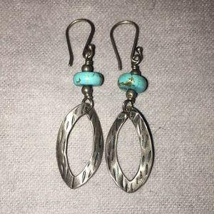 Silpada Sterling Turquoise Bead Earrings W1862